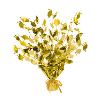 Beistle Party Decoration Accessory Graduate Cap Gleam 'N Burst Centerpiece - gold 15 Pack of 12
