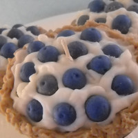 Blueberry Cream Pie Candle Handmade with Soy Wax by Pookaberrys