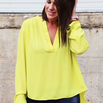 Sweet Little Lime Blouse