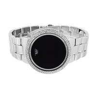 Touch Screen Watch Iced Out Techno Pave Smart Watch Digital