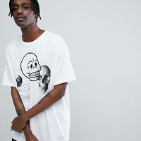 Cheap Monday Squad Skull Mania T-Shirt at asos.com