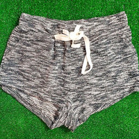 LOUNGE AROUND SHORTS IN CHARCOAL