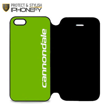 Cannondale Bike Team Bicycle Cycling Logo iPhone 5 Flip Case|iPhonefy
