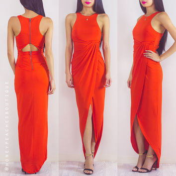 Back In Stock: Pursuit Of Happiness Dress - Blood Orange