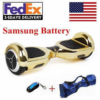 ICIKGQ8 2017 new chrome hoverboard electric scooter samsung battery wheel self balancing scooter hover board electric skateboard