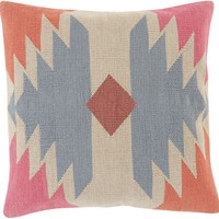 Cotton Kilim Throw Pillow Gray, Neutral