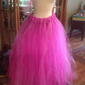 Glitter Pink and Purple Tulle Skirt
