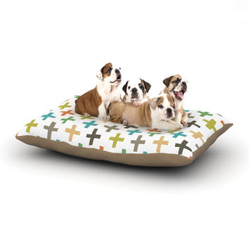 "Daisy Beatrice ""Hipster Crosses Repeat"" Multicolor Dog Bed"