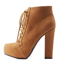 LACE-UP CHUNKY PLATFORM BOOTIES