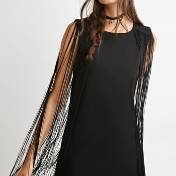 Fringed Shift Dress