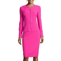 Chelsea Rose Zip-Front Peplum Jacket or Pencil Skirt