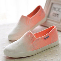Sweetly Gradient low canvas shoes,fashion shoes