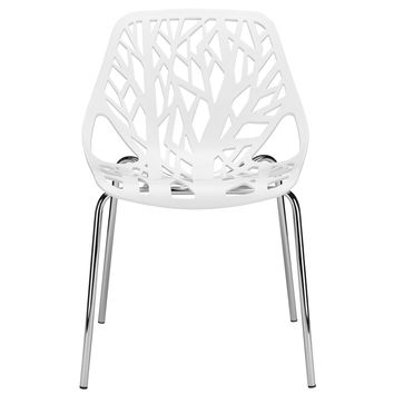 Birds Nest Dining Side Chair in White