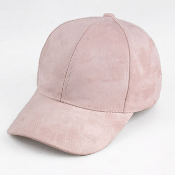 Casual Pink Black Lady Ovo Baseball Cap