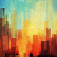 Urban sunset Stretched Canvas by SensualPatterns | Society6