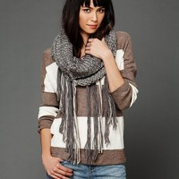 Free People Loop Knit Fringe Scarf