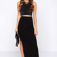 BB Dakota Zellie Black Maxi Skirt