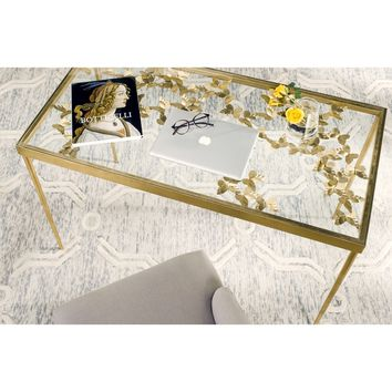 Safavieh Rosalia Butterfly Antique Gold Leaf Desk | Overstock.com Shopping - The Best Deals on Desks