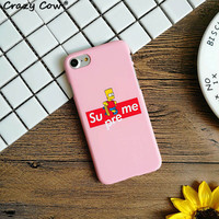 Supreme Bart Simpson Skateboard Phone Case All iPhone Models 7 7Plus 6 6s Plus 5 5s SE