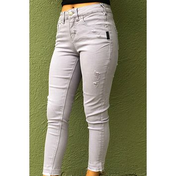 Silver Avery Skinny Crop Jeans- Lavender