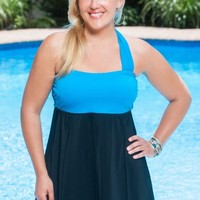 Always For Me Wrap Bandeau Plus Size Swimdress
