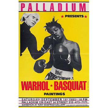 Palladium: Warhol, Basquiat Boxing Vintage Poster by Michael Halsband