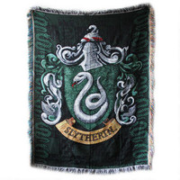 Exclusive Slytherin Crest Tapestry Throw |