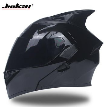 Flip Up Motorcycle motorcross motorbike Helmet With Inner Sun Visor JIEKAI-902 DOT sticker S M L XL