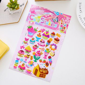 Chocolate Icecream Bubble Pvc Stickers For Phone And Paper Notebook Decor Cupcake Children Fridge Stickers School Supplies