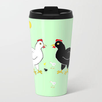 Family Hen Metal Travel Mug by Zia