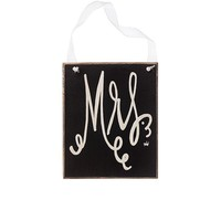 Mrs. Ribbon Sign