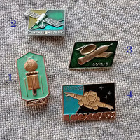 Vintage Space Pin, Kosmos, Vostok, Sputnik Meteor, Zond 5, Voskhod 2, team member, Sport, Souvenir, Patches Pins, Pinback Buttons, My Wealth