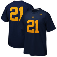 Nike Cal Bears #21 Replica Football Player T-Shirt - Navy Blue