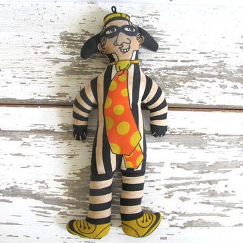 Vintage Hamburgler / McDonald's Plush toy / 1970's