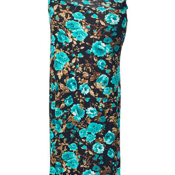 82 Days Women'S Rayon Span Various Print Maxi Skirt - Print