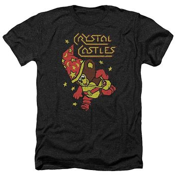 Atari Crystal Castles Bear Black Heathered Mens T-Shirt