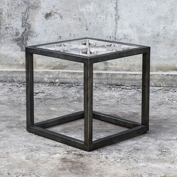 Uttermost Baruti Iron Frame End Table On SALE