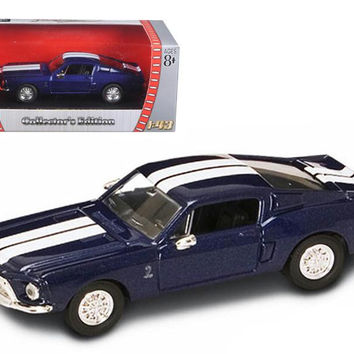 1968 Shelby GT 500 KR Blue 1-43 Diecast Model Car by Road Signature