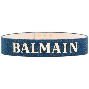 Denim Gold Waist Belt by Balmain