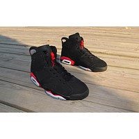 Air Jordan 6 black/red Basketball Shoes 41-47
