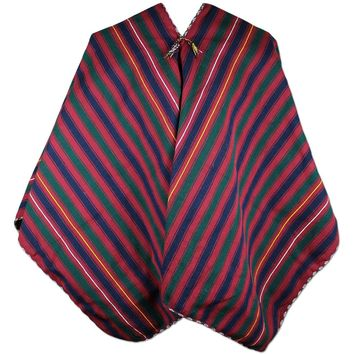 Peruvian Traditional Wool Blend Poncho
