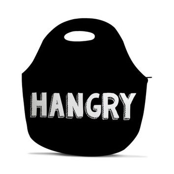 Hangry Lunch Bag - Neoprene Lunch Bag - Funny Lunch Bag - Insulated Lunch Bag