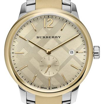 Burberry Check Stamped Bracelet Watch, 40mm | Nordstrom