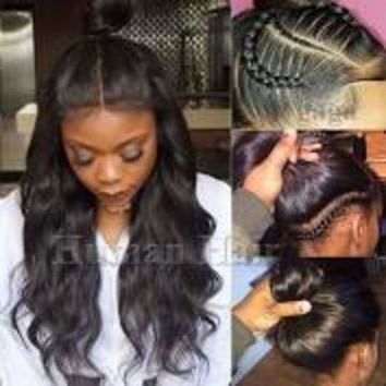 ac spbest real human hair silk full lace wig