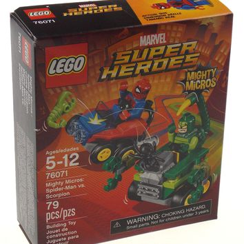 LEGO Marvel Super Heroes Mighty Micros Spider Man Vs. Scorpion 79 Pcs 76071