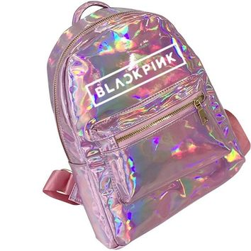 School Backpack trendy Hot Sale Korean Summer New Style Backpacks For Teenager Laser Holographic Shoulder Bags Female Lady School Bag AT_54_4
