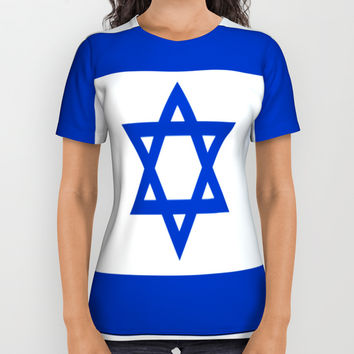 israeli flag All Over Print Shirt by oldking