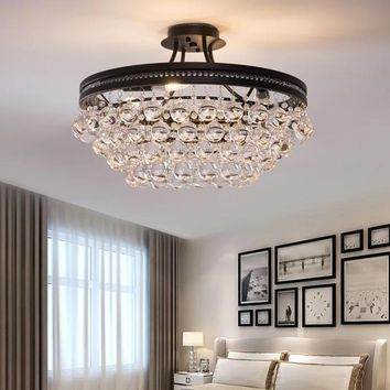 Cabinets LED flush mount chandelier
