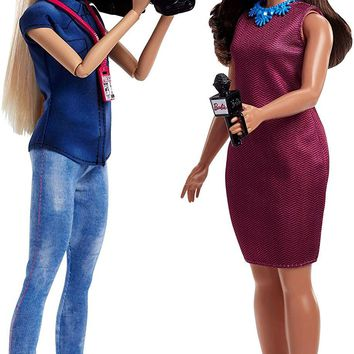 Mattel® Barbie® Careers TV News Team Dolls, 2 Pack