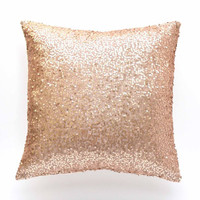 "Blush Pillow Cover - 20"" x 20"" - Blush Sequin Decorative Pillow, Pillow, Cover, Throw Pillow, Decorative Pillow, Lumbar Throw Pillow"
